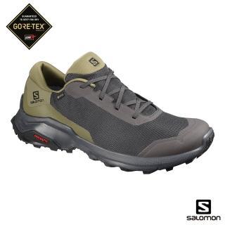 【salomon】登山鞋 低筒 男 X REVEAL GORETEX 低筒登山鞋(幻灰/橄欖綠/黑)
