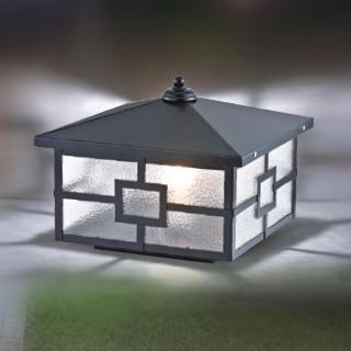 【大巨光】台製現代風1燈防水門柱燈_E27/LED(LW-09-5934)