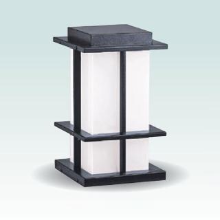 【大巨光】台製現代風1燈防水門柱燈_E27/LED(LW-09-5935)