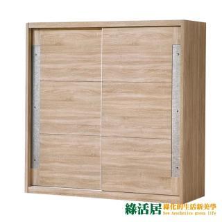【綠活居】法菲德  現代6尺多功能推門衣櫃/收納櫃(吊衣桿+二抽屜+開放式層格)