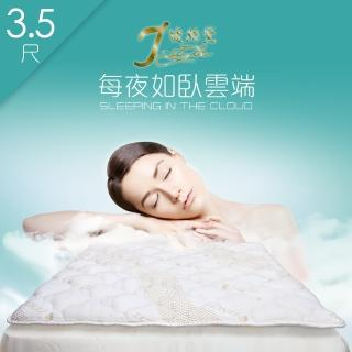 【J-style婕絲黛】台製天絲加厚型防蹣透氣日式床墊(單人加大3.5尺)