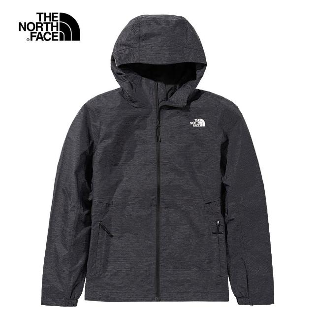 【The North Face】The North Face北面女款深灰色防水透氣衝鋒衣|49B9KS7