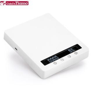【Tiamo】RT3000專業計時電子秤-白(HK0601WH)
