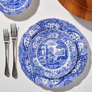 【Portmeirion 波特玫琳恩】Spode雋永典藏Blue Italian義大利藍系列23CM盤4入組(副餐盤)
