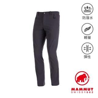 【Mammut 長毛象】Hiking Pants Men 經典健行長褲 幻影黑 男款 #1022-00420
