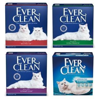 週期購【EverClean 藍鑽】強效凝結除臭貓砂25lb