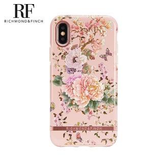 【Richmond&Finch】RF瑞典手機殼 玫瑰金線框-浪漫牡丹(iPhone Xs Max 6.5吋)