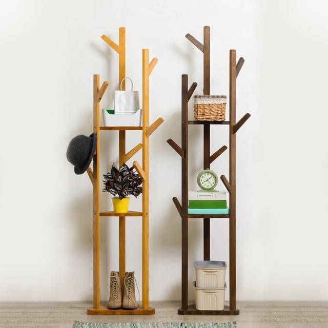 【HappyLife】楠竹直立樹叉衣帽架/玄關收納架