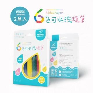 【MIT台灣製 Kidzcrayon 洗澡蠟筆】水洗蠟筆兩盒入 六色/ 盒(玻璃蠟筆|浴室蠟筆)