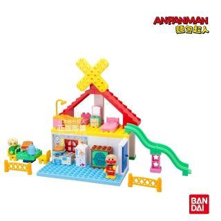 【ANPANMAN 麵包超人】麵包工廠與溜滑梯小屋積木樂趣箱