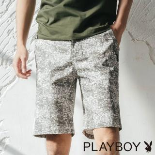 【PLAYBOY】渲染效果休閒短褲(灰色)