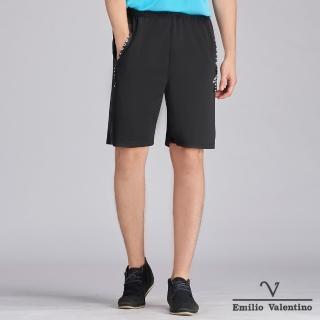 【Emilio Valentino 范倫鐵諾】簡約風格運動短褲_黑(15-C3901)