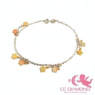 【CC Diamond】義大利K金手鏈*雙色五葉花*(義大利進口)