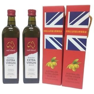 【red island 紅島】澳洲特級冷壓初榨橄欖油750ml單入禮盒X2