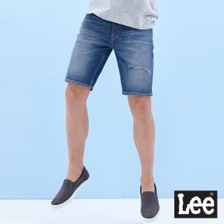 【Lee】902 男牛仔短褲-中淺藍