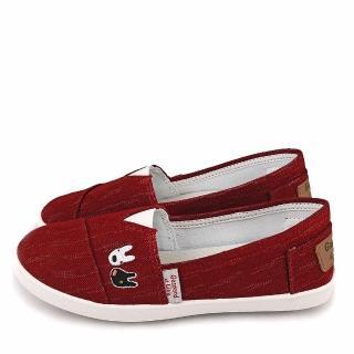【童鞋城堡】麗莎與卡斯伯 簡約風休閒鞋(GL7629-紅)