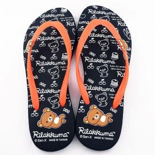 【童鞋城堡】拉拉熊 女款 超可愛鬆餅塗鴉 夾腳拖(KM26060-藍)