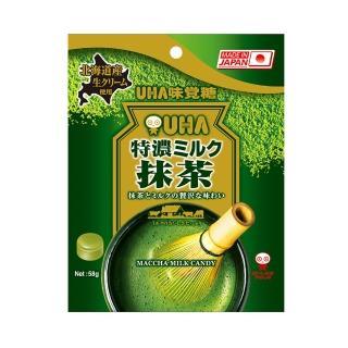 【UHA 味覺糖】特濃牛奶糖-抹茶味(58g)