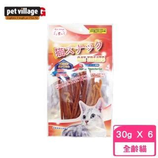 【Pet Village 魔法村】PV貓咪細切鮪魚條 30公克±5%(6入組)