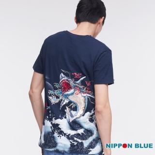 【BLUE WAY】進口金標-五輪水之卷磯憮短TEE-日本藍
