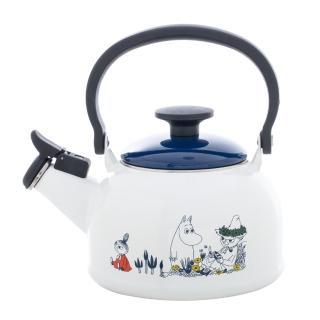 【FUJIHORO富士琺瑯】嚕嚕米系列-笛音琺瑯燒水壺1.6L(笛音壺/燒水壺/琺瑯壺)