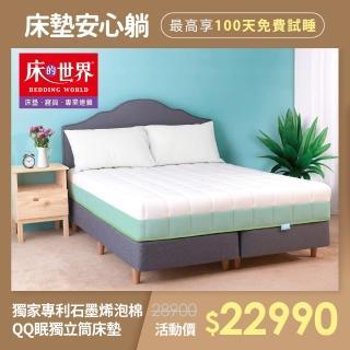 【床的世界】QQ眠 雙人加大獨立筒床墊   6  x 6.2 尺