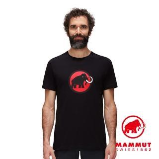 【Mammut 長毛象】Classic T-Shirt Men 經典LOGO短袖上衣 男款 黑色 #1017-02240