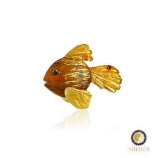 【MIRROR 皇宣緣】自由自在金魚琥珀擺件