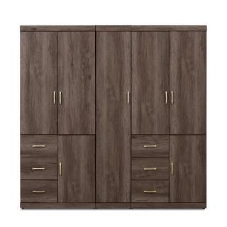 【MUNA 家居】凱爾 7 X 7尺灰橡色衣櫥(衣櫃)