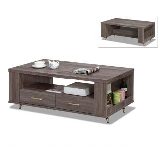 【MUNA 家居】貝克4尺灰橡色大茶几不含小凳子(茶几)