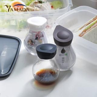 【YAMADA 日本山田】按壓定量式PET油醋醬料分裝瓶-140ml-3入組-三色(調味料 醬油 分裝罐 廚房 烹飪)