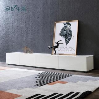 【hoi! 好好生活】林氏木業現代簡約環保E1白亮光漆面電視櫃 2.3M DA5M
