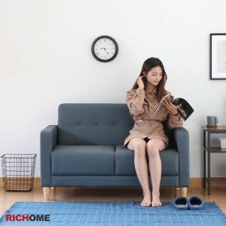 【RICHOME】亞米舒適耐磨貓抓皮厚實坐墊雙人沙發(3色)
