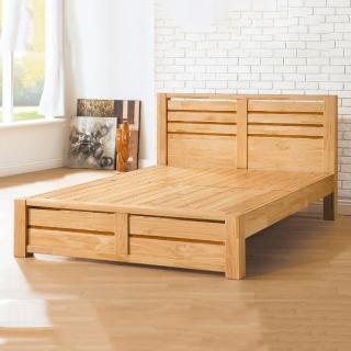 【MUNA 家居】泰倫實木5尺雙人床台(雙人床)