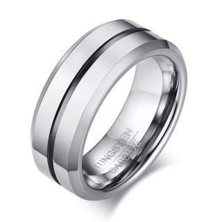 【RJ New York】彩耀光線純色中性加厚鎢鋼戒指(3色可選)