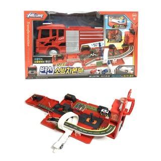 【酷博士】聲光消防車立體軌道場景組(玩具車)