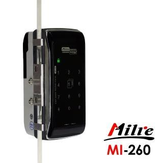 【Milre 美樂】MI-260二合一密碼/卡片智能玻璃門專用電子門鎖(附基本安裝)
