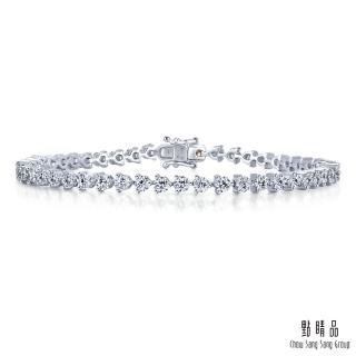 【點睛品】閃耀2克拉滿鑽 18K金鑽石手鍊