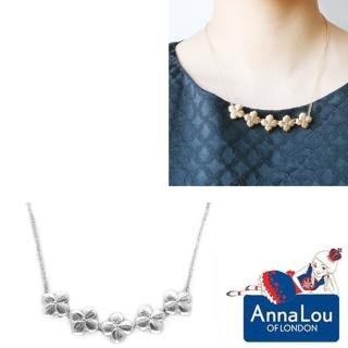 【Anna Lou Of London】倫敦品牌 優雅風信子hyacinth花朵銀項鍊(絕版品 售完不補)