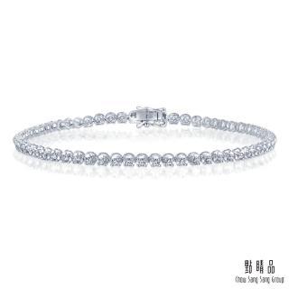 【點睛品】1克拉閃耀圓鑽 18K金鑽石手鍊