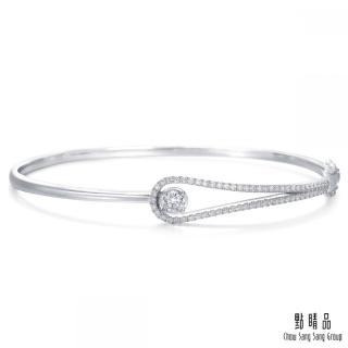 【點睛品】50分 耀眼流星 18K金鑽石手環