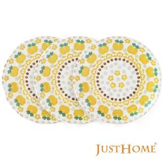 【Just Home】日本製波蘭蘋果陶瓷6吋點心盤-4款花色(6件平盤)