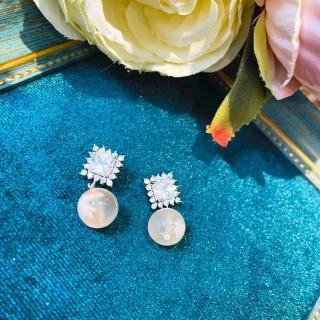 【My stere我的時尚秘境】925銀冰種櫻花瑪瑙耳環(冰種 櫻花  粉紅 桃花)