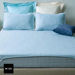 【HOLA】超涼感平式保潔墊 淡藍色 雙人(雙人)