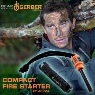 【Gerber】Bear Grylls Compact Fire Starter 貝爾系列袖珍打火石(#31-002554)