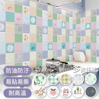 【半島良品】4款/炫染防水防油桌面廚房地板磁磚貼(防油貼
