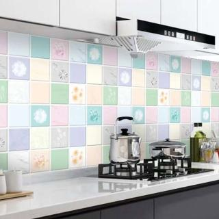 【半島良品】9款/炫染防水防油桌面廚房地板磁磚貼(防油貼