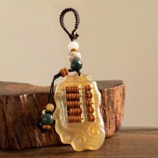 【米蘭精品】手機掛飾鑰匙扣(天然羊角如意算盤名牌包包配飾母親節情人節生日禮物4款73xd21)
