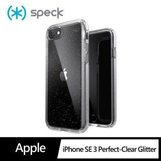 【Speck】iPhone 8/7 Presidio Perfect-Clear Gltr 抗菌透明 閃亮防摔殼 4米防摔(防摔保護殼)