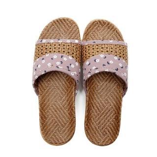 【ego life】藤草編織透氣防滑女用室內拖鞋(藤草拖鞋)